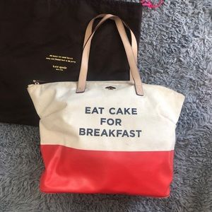 KATE SPADE Call To Action Eat Cake Tote